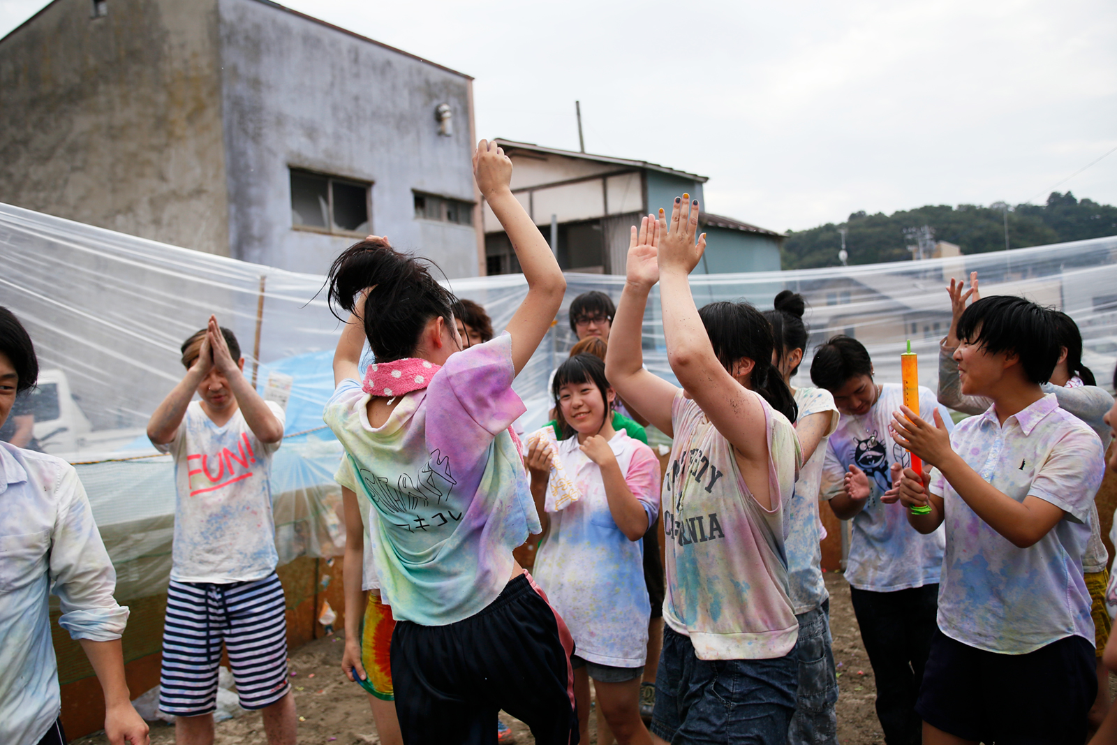 Ishinomaki Color Fight, organized by local high school students.