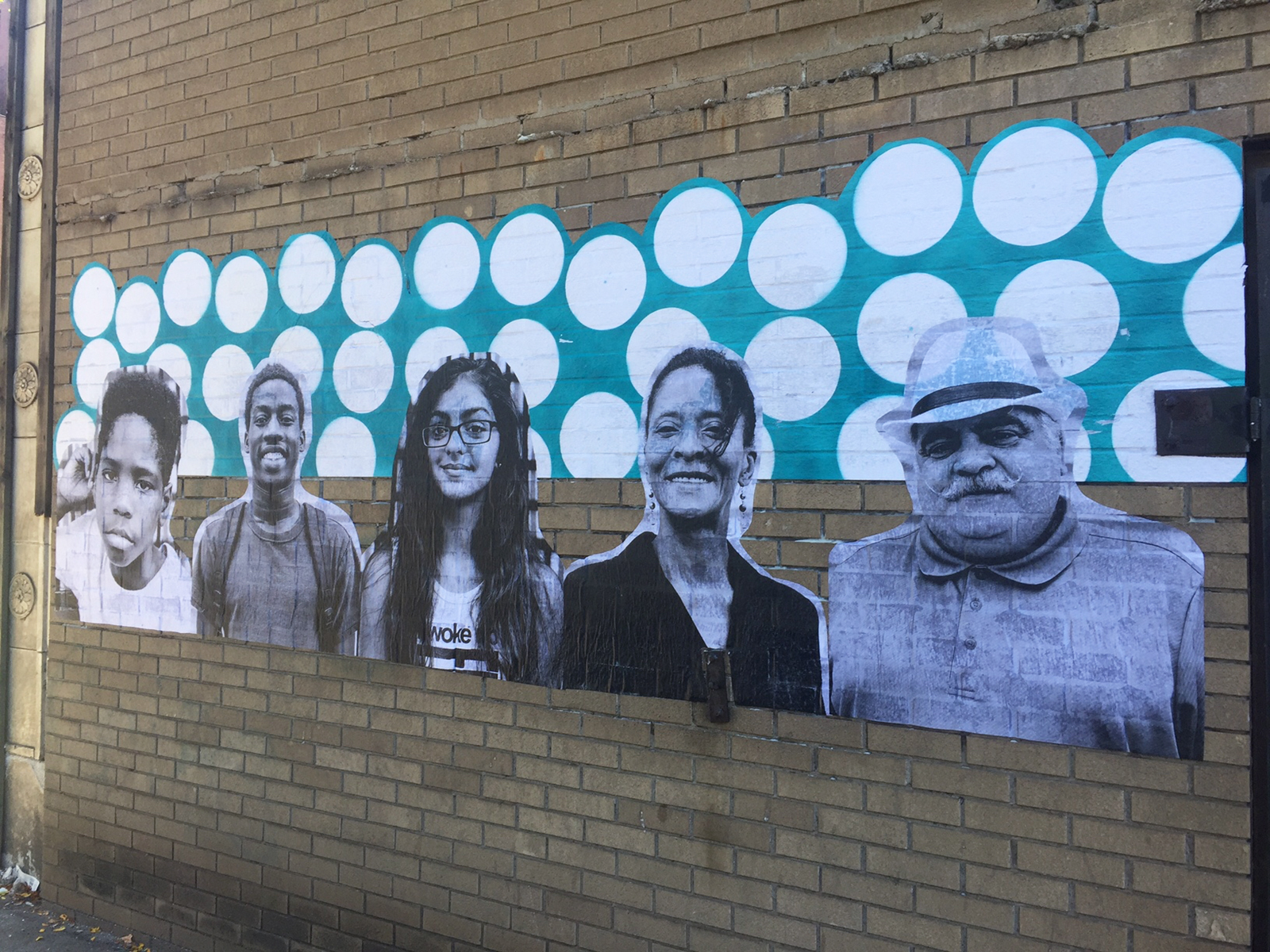 This mural is another sign of life returning to Braddock.