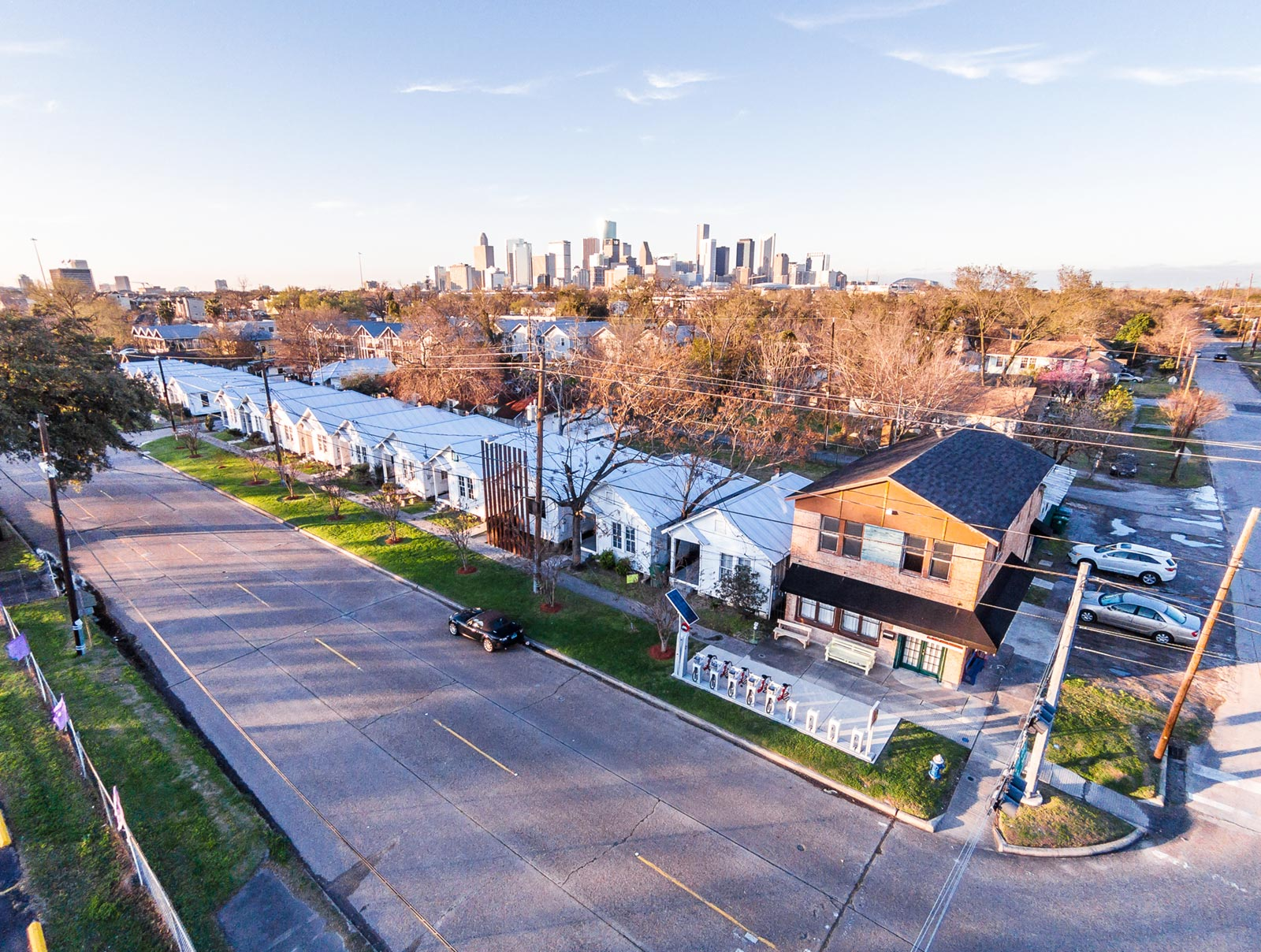 Aerial View of Project Row Houses during Round 41. Image Credit: Peter Molick