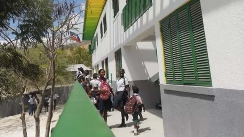 A school in Montrouis, Haiti.